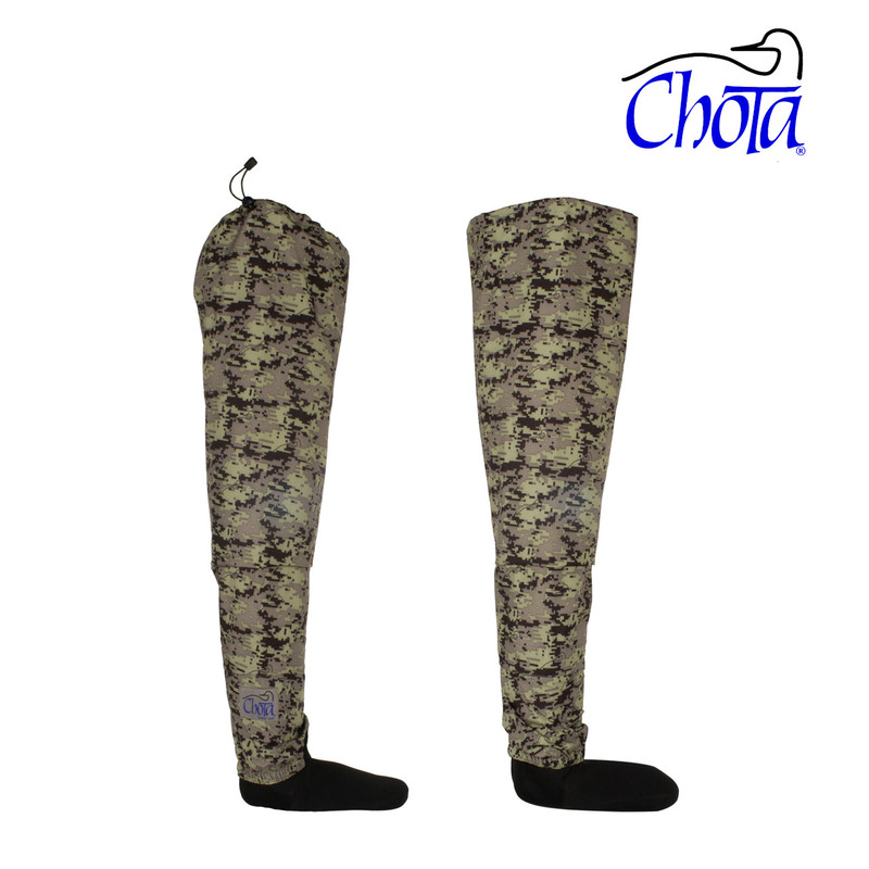 Chota Camo Hippies Hip Waders Shown as a Pair
