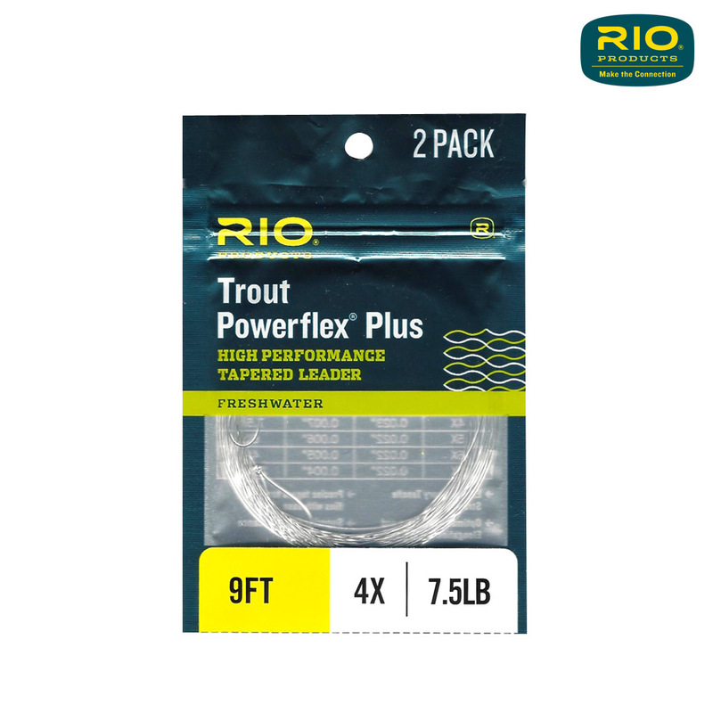 Rio Powerflex Plus Trout Leader 2-Pack