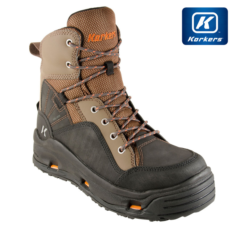 Korkers Buckskin Wading Boot Front and Side View