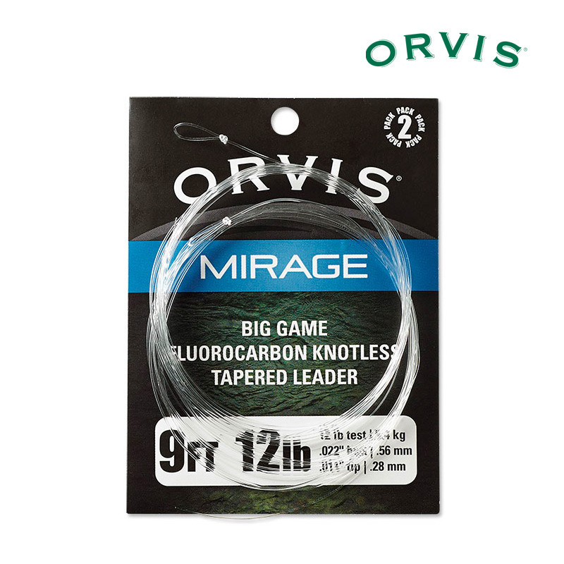 2-Pack of Orvis Mirage Fluorocarbon Big Game Leaders