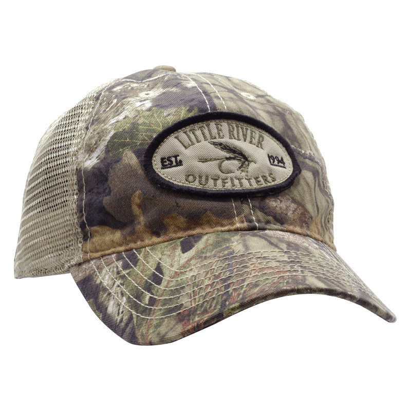 LRO Camo Trucker Cap Front and Side View