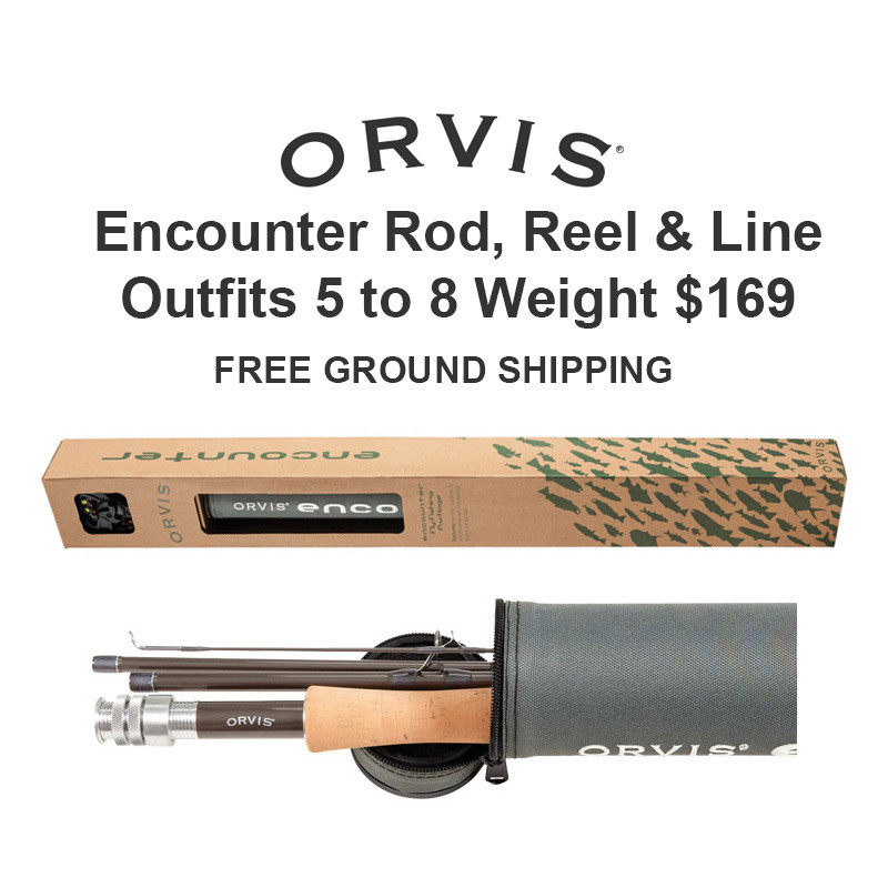Orvis Encounter Fly Rod, Reel and Fly Line Outfit, Rod, Reel, Line, Rod Tube, Orvis Logo, Price and Free Ground Shipping