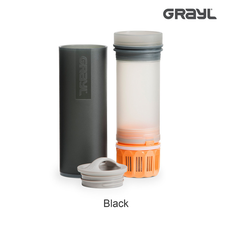 Grayl Ultralight Water Purifier in the Color Black