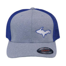 U.P. Map Ball Cap - Gray/Royal Blue