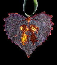 Kissing Couple on Cottonwood Leaf