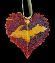 U.P. on Cottonwood Leaf Ornament