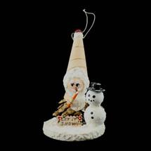 Let it Snow Birch Ornament