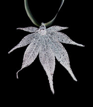 Japanese Maple Ornament - Silver