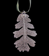 Oak Leaf Ornament - Silver