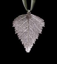 Birch Leaf Ornament - Silver