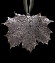Sugar Maple Leaf Ornament - Silver