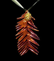 Redwood Needles with Cone Ornament