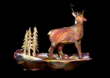 Copper Deer Wall Hanging