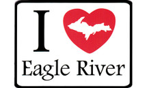 I Love Eagle River Car Magnet