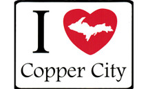 I Love Copper City Car Magnet