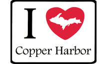 I Love Copper Harbor Car Magnet