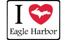I Love Eagle Harbor Car Magnet