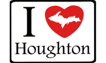 I Love Houghton Car Magnet