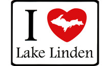 I Love Lake Linden Car Magnet