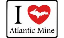 I Love Atlantic Mine Car Magnet