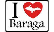 I Love Baraga Car Magnet