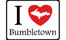 I Love Bumbletown Car Magnet
