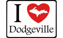 I Love Dodgeville Car Magnet