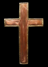 Copper Cross Wall Hanging - 1
