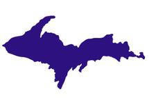 U.P. Silhouette Sticker - Purple