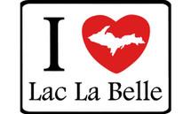I Love Lac La Belle Car Magnet