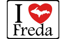 I Love Freda Car Magnet