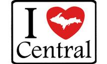 I Love Central Car Magnet
