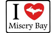 I Love Misery Bay Car Magnet