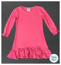 A-line Pink Dress Long Sleeve