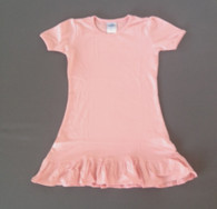 Girls A-Line Dress Short Sleeve -Candy Pink (wholesale)