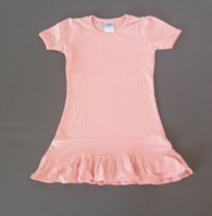 Girls A-Line Dress Short Sleeve -Candy Pink (catalog)