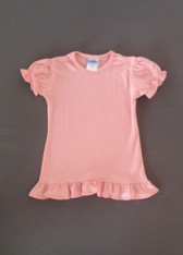 Girls Ruffle Tee-Candy Pink (catalog)