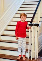 Childrens-Christmas  Stripe PJ Set-Retail