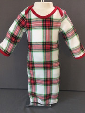 Baby Gown-Christmas Plaid
