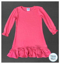A-line dress long sleeve bubblegum pink