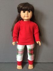 Doll-Christmas Plaid PJ