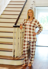 Adult-Christmas Plaid PJ SET