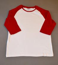 Adult Raglan Tee-Red Retail