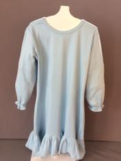 A-Line Long Sleeve BLUE Dress