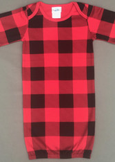 Baby Gown-Buffalo Check -Retail