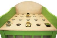 Lime Green  Painted Sapo Game - Fun Outdoor Yard Game | Juego De Sapo