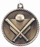 Baseball High Relief Medal