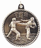 Karate High Relief Medal