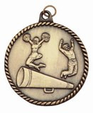 Cheerleading High Relief Medal