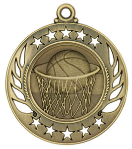 Basketball Galaxy Medal